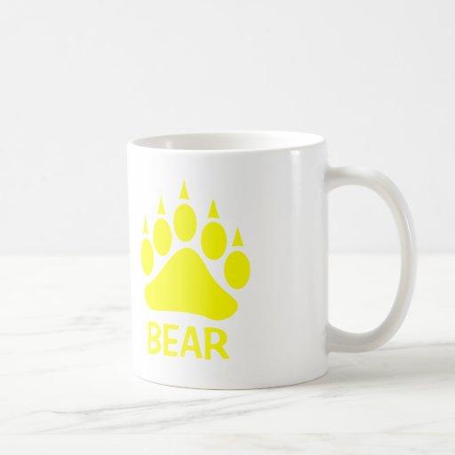 Oso de la garra de oso (amarillo) tazas