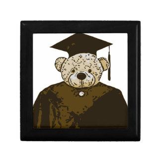 Oso de la graduación cajas de recuerdo