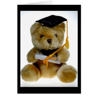 Oso de la graduación felicitaciones