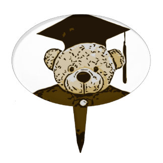 Oso de la graduación figura de tarta
