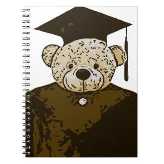 Oso de la graduación libros de apuntes