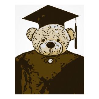 Oso de la graduación plantilla de membrete
