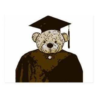 Oso de la graduación postales