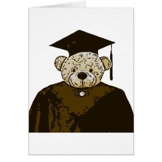 Oso de la graduación tarjetón