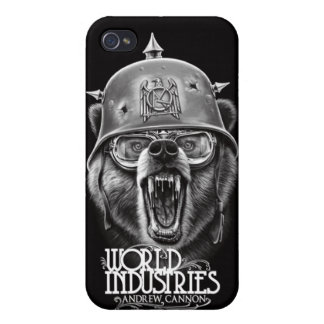 Oso de la guerra del cañón iPhone 4 fundas