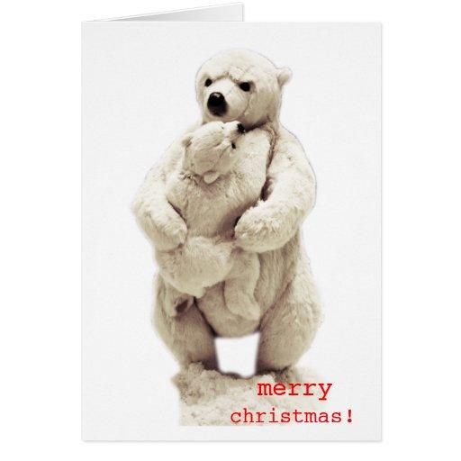oso de la mamá y oso de peluche tarjeta de felicitación
