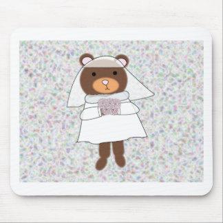 oso de la novia tapete de ratones
