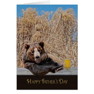 Oso de la papá del día de padre tarjeta de felicitación
