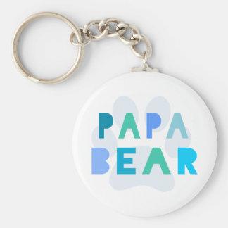 Oso de la papá llaveros personalizados