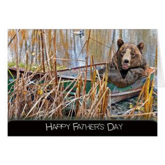 Oso de la papá para el día de padre tarjeta de felicitación