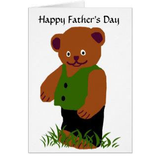 Oso de la papá, tarjeta en blanco feliz del día de