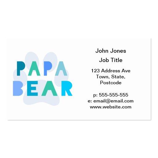 Oso de la papá tarjetas de visita