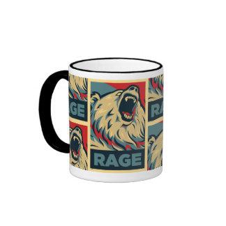 Oso de la rabia para el presidente (taza) taza a dos colores