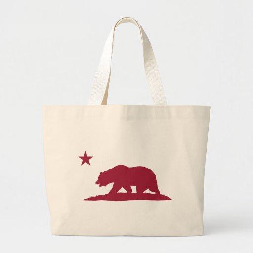 Oso de la república de California - rojo Bolsas