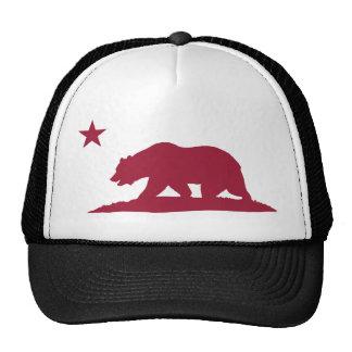 Oso de la república de California - rojo Gorras De Camionero