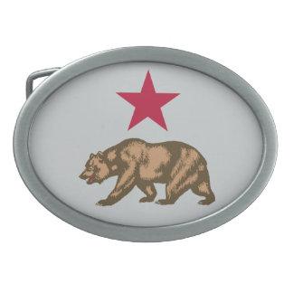 Oso de la república de California y hebilla del Hebillas De Cinturón Ovales