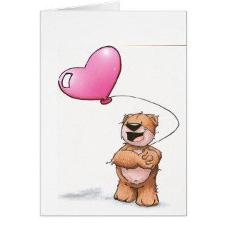 oso de la tarjeta del día de San Valentín