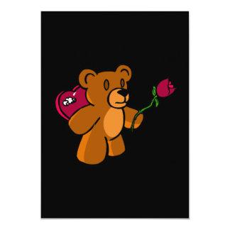 """Oso de la tarjeta del día de San Valentín Invitación 5"""" X 7"""""""