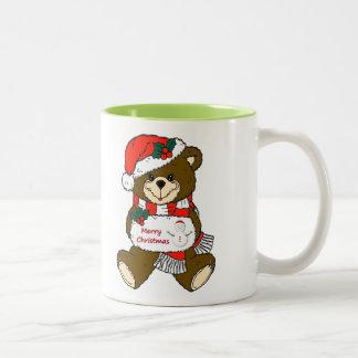 Oso de las Felices Navidad Tazas De Café