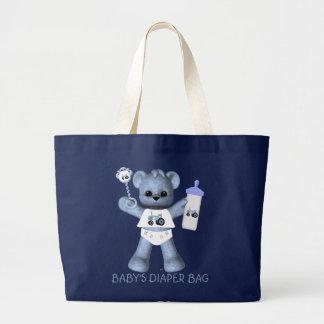 Oso de los azules cielos y la bolsa de pañales azu