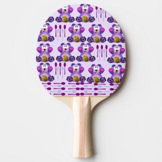 Oso de miel del FMS con las cucharas Pala De Tenis De Mesa