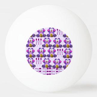 Oso de miel del FMS con las cucharas Pelota De Ping Pong