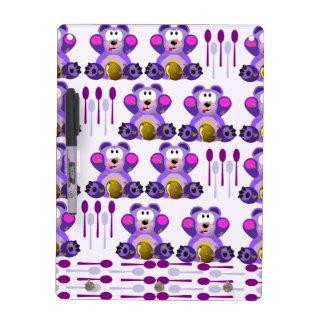Oso de miel del FMS con las cucharas Pizarra