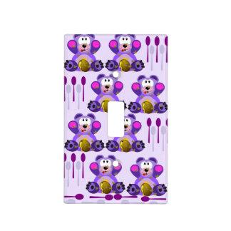 Oso de miel del FMS con las cucharas Placa Para Interruptor
