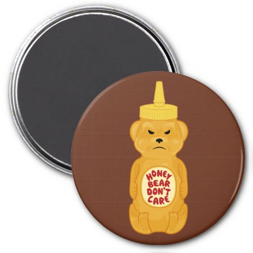 Oso de miel imán redondo 7 cm