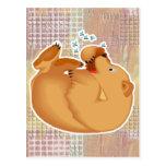 oso de miel roly polivinílico postal
