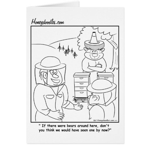 Oso de miel secreto - tarjeta de felicitación
