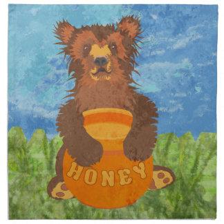 Oso de miel servilleta de papel