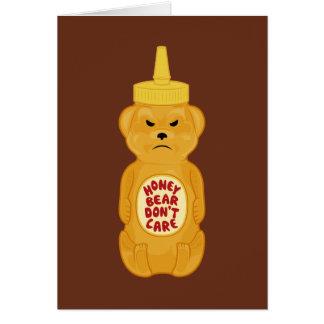 Oso de miel tarjeta pequeña