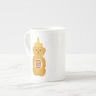 Oso de miel taza de porcelana