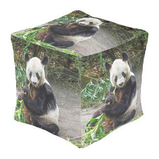 Oso de panda 1 pouf cuadrado