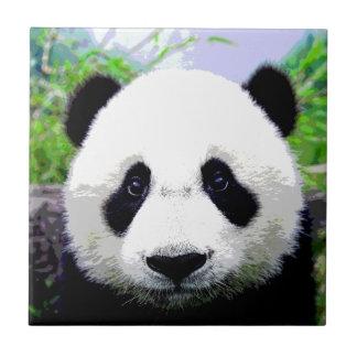 Oso de panda azulejo cuadrado pequeño
