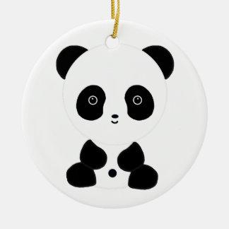 Oso de panda blanco y negro ornato