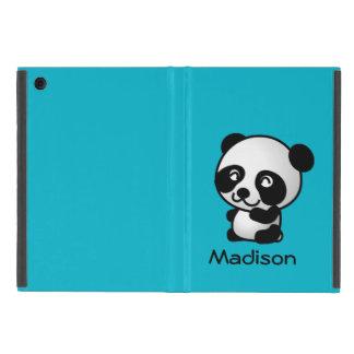 Oso de panda blanco y negro feliz lindo iPad mini carcasa