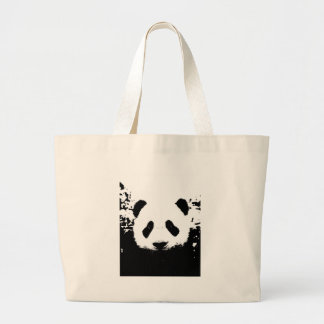 Oso de panda bolsa de tela grande