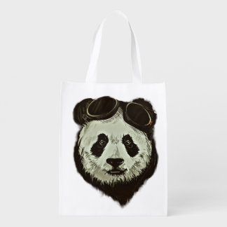 Oso de panda bolsas reutilizables