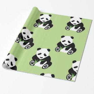 Oso de panda brillante del papel de embalaje papel de regalo