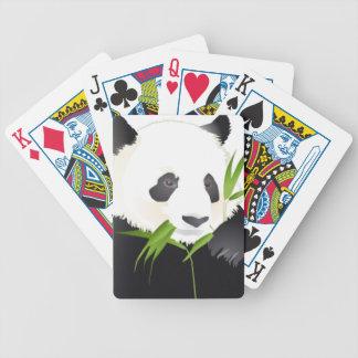 Oso de panda baraja cartas de poker