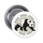 Oso de panda clásico pins