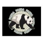 Oso de panda clásico postales