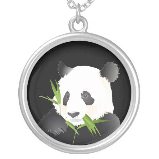 Oso de panda colgante redondo