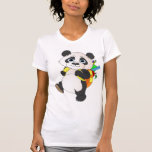 Oso de panda con la mochila camisetas