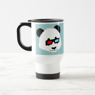 Oso de panda con los vidrios 3D Taza