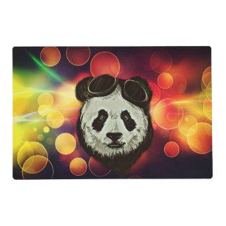 Oso de panda de Asia con el estilo de Bokeh Salvamanteles