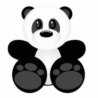 Oso de panda de bambú escultura fotografica