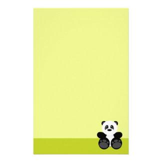 Oso de panda de bambú  papeleria de diseño